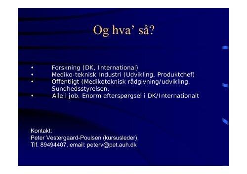 Magnetisk Resonans - Biomedicinsk Teknik - Aarhus Universitet