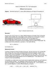 Bilkørsel ved resonans - DTU Matematik ∙ Institut for Matematik
