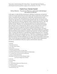 Claudia Fraas, Christian Pentzold Online-Diskurse – Theoretische ...