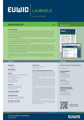 mediadaten - EUWID Holz und Holzwerkstoffe