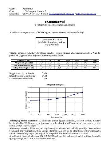 Használati tájékoztató (PDF) - ReSonic Kft.