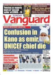 03052020 - More Mystery deaths Confusion in Kano as emir , UNICEF chief die