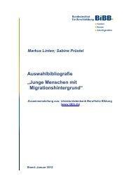 Junge Menschen mit Migrationshintergrund - BiBB