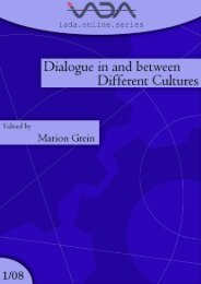 Dialogue in and between Different Cultures - International ...