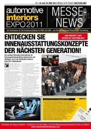 17., 18. und 19. MAI 2011 - Automotive Interiors Expo