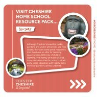 Cheshire Education Pack - Juniors