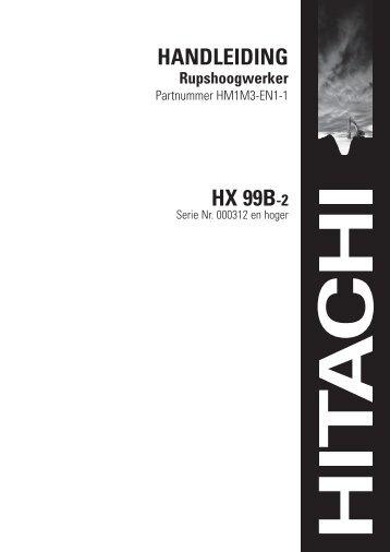 HANDLEIDING HX 99B-2 - Koopman verhuur