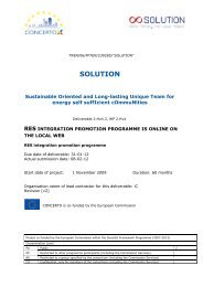 RES integration promotion programme is online ... - Solution Concerto