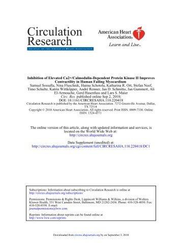 DOI: 10.1161/CIRCRESAHA.110.220418 published online Sep 2 ...