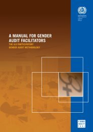 A manual for gender audit facilitators: The ILO - International Labour ...