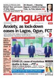 04052020 - Anxiety, as lock-down eases in Lagos, Ogun, FCT