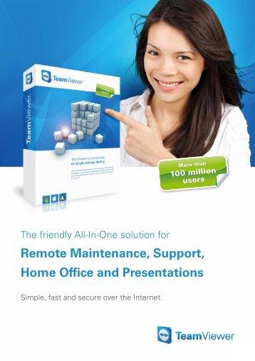 Brochure: TeamViewer Remote Control