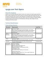 nycgo.com Tech Specs