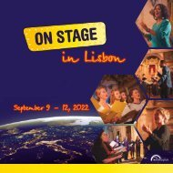 ON STAGE Lisbon 2022 - Brochure