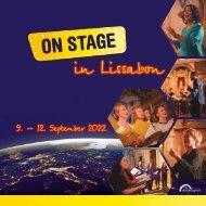 ON STAGE Lissabon 2022 - Broschüre