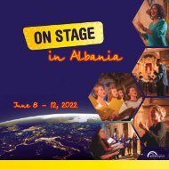 ON STAGE Albania 2022 - Brochure