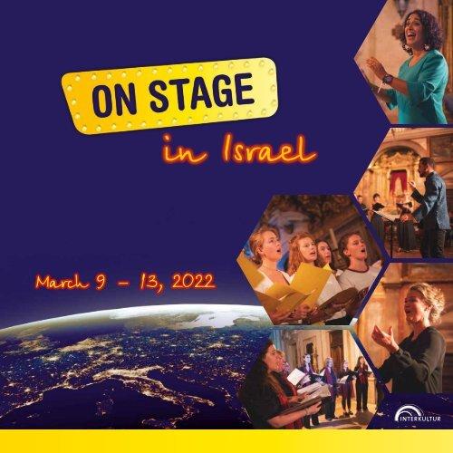 ON STAGE Israel 2022 - Brochure