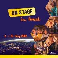 ON STAGE Israel 2022 - Broschüre
