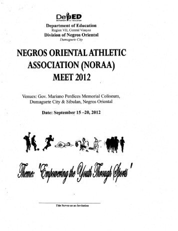 negros oriental athletic association (noraa) - DepEd NegOr Memo