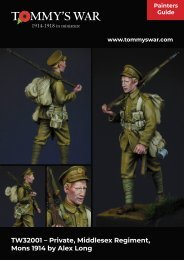 Tommy's War painting instructions for British World War One uniform