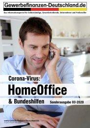 Gewerbefinanzen-Deutschland: Corona-Virus: HomeOffice & Bundeshilfen Sonderausgabe 03-2020