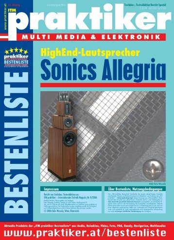 Sonics Allegria: HighEnd-Lautsprecher - ITM praktiker ... - praktiker.at
