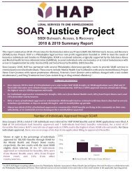 HAP SOAR Justice Project_2018-19 Summary Report