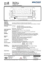 StZ 2.1a Basis-Zarge und WE-Basis-Zarge - Grauthoff Türengruppe