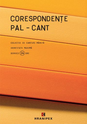 Corespondenţe pal - cant - Hranipex