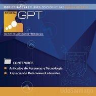 CONTENIDOS - Revista Gestión de las Personas y Tecnología ...