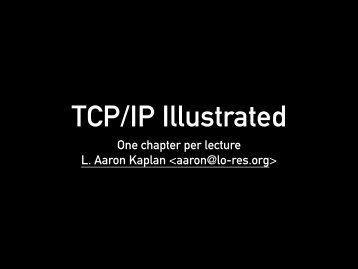 One chapter per lecture L. Aaron Kaplan