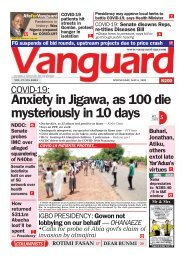 06052020 - COVID-19Anxiety in Jigawa, as 100 die mysteriously in 10 days