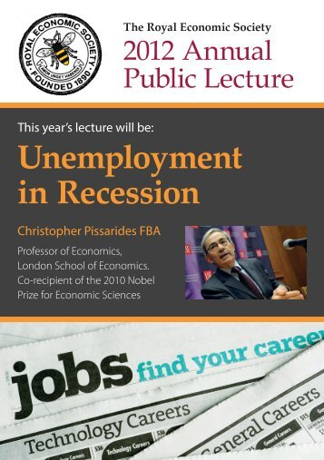 Unemployment in Recession - Royal Economic Society