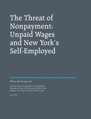 The Threat of Nonpayment: Unpaid Wages and New York's Self ...