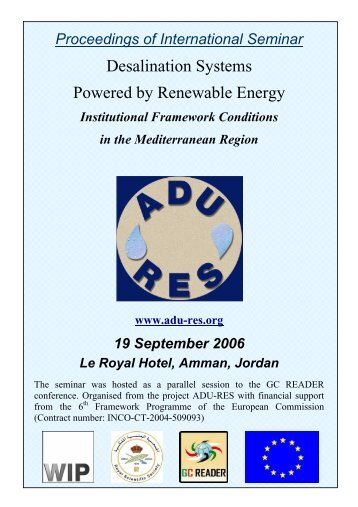 Desalination Systems Powered by Renewable Energy - ADU-RES