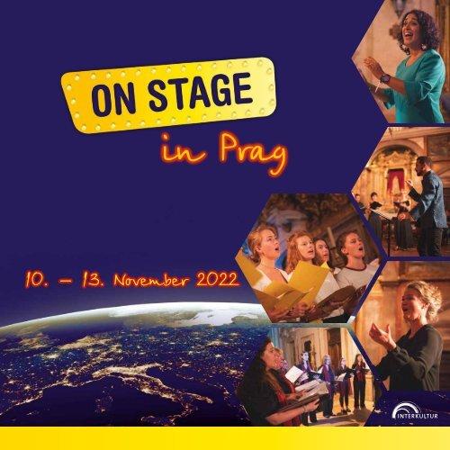 ON STAGE Prag 2022 - Broschüre