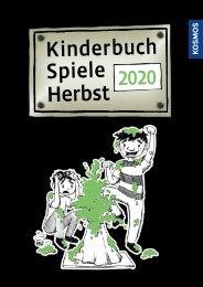 KOSMOS Kinder- & Jugendbuch Spiele Herbst 2020