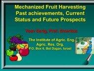 Mechanical Harvesting of Fruit