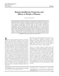 Relaxin:Antifibrotic Properties and Effects in Models of Disease