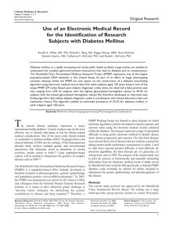 MMRF March 07 Book.qxd - Clinical Medicine & Research