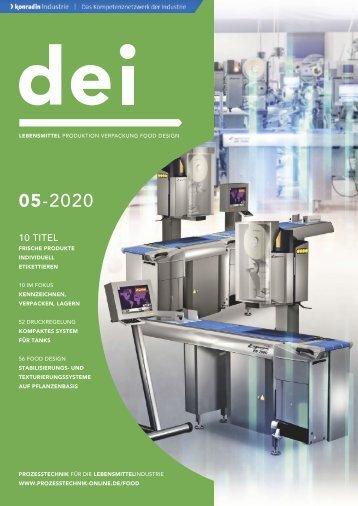 dei – Prozesstechnik für die Lebensmittelindustrie 05.2020