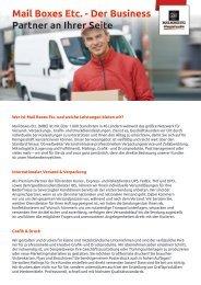Firmenprofil von Mail Boxes Etc. - Der Business Partner an Ihrer Seite
