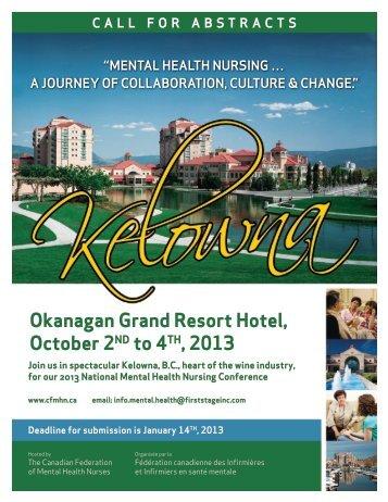 Okanagan Grand Resort hotel, October 2ND to 4th, 2013 - Canadian ...