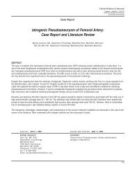 Iatrogenic Pseudoaneurysm of Femoral Artery - Clinical Medicine ...
