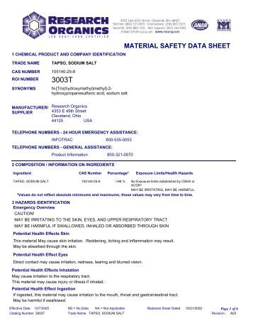 a research on the material safety data sheet Materials safety data sheets comprehensive sites msds search - searchable database of over 750,000 msds where to find msds on the internet - information and links for many msds databases yahoo - material safety data sheets - links to some msds sites.