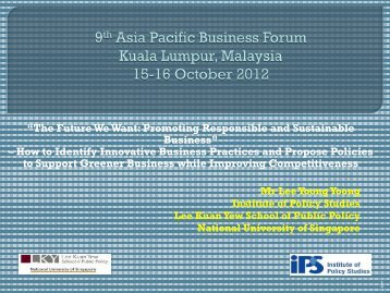 9th Asia Pacific Business Forum Sunway Resort Hotel and SPA Kuala ...