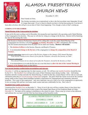 Newsletter - Alamosa Presbyterian Church
