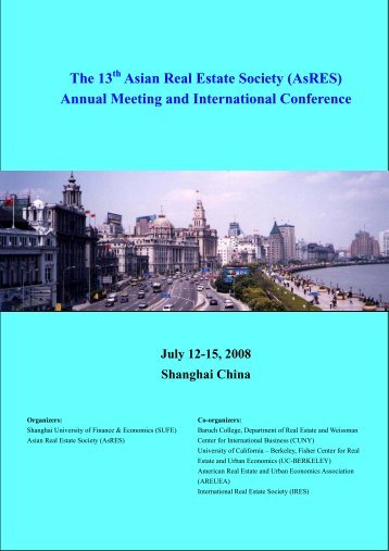 Annual Meeting and International Conference July 12-15 ... - AsRES
