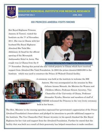 Her Royal Highness Princess Ameera Visits NMIMR, Dr - Noguchi
