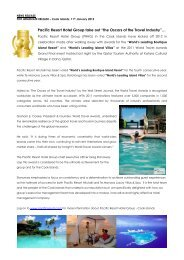Pacific Resort Hotel Group take out - Te Manava Luxury Villas & Spa